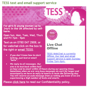 Tess online chat